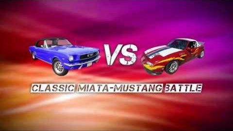 Classic Miata versus Mustang Battle